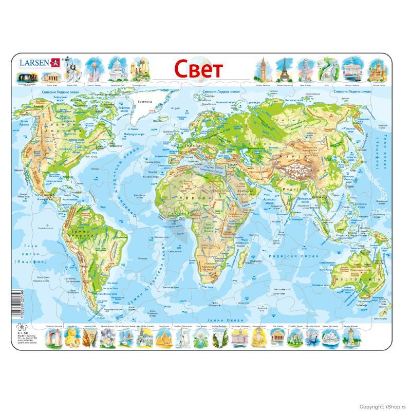 fizicka karta sveta Puzzle Fizička karta Sveta | Škola | Školski pribor | Apple baby  fizicka karta sveta