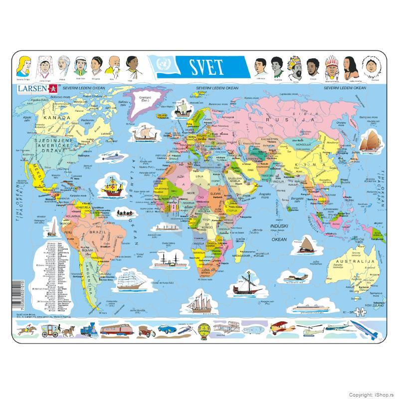 mapa sveta igrica Puzzle Politička karta Sveta | Škola | Školski pribor | Apple baby  mapa sveta igrica