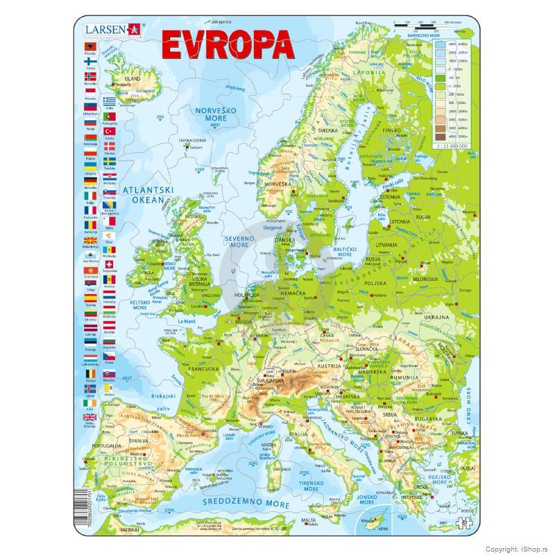 karta evrope na srpskom Puzzle Fizička karta Evrope | Škola | Školski pribor | Apple baby  karta evrope na srpskom