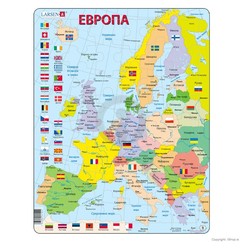 karta evrope na srpskom jeziku Puzzle Politička karta Evrope | Škola | Školski pribor | Apple  karta evrope na srpskom jeziku